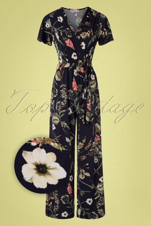 Vintage Chic 30411 Jumpsuit Floral Black 010519 0004Z