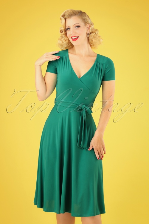 Vintage Chic 30252 Faith Green Dress 20190412 040MW