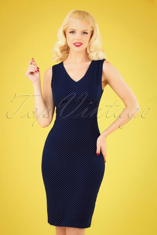 TopVintage boutique 30099 Blue Dress 20190412 040MW