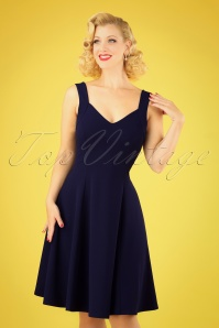 Vintage Chic 30414 Fit and Flare Navy 20190412 040MW