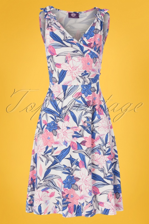 TOPVBC 30783 Swingdress Blue Floral 010519 0003W