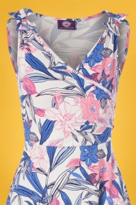 TOPVBC 30783 Swingdress Blue Floral 010519 0003V