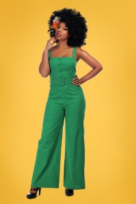 Collectif Clothing 27479 Olympia Plain Jumpsuit in Green 20180816 008
