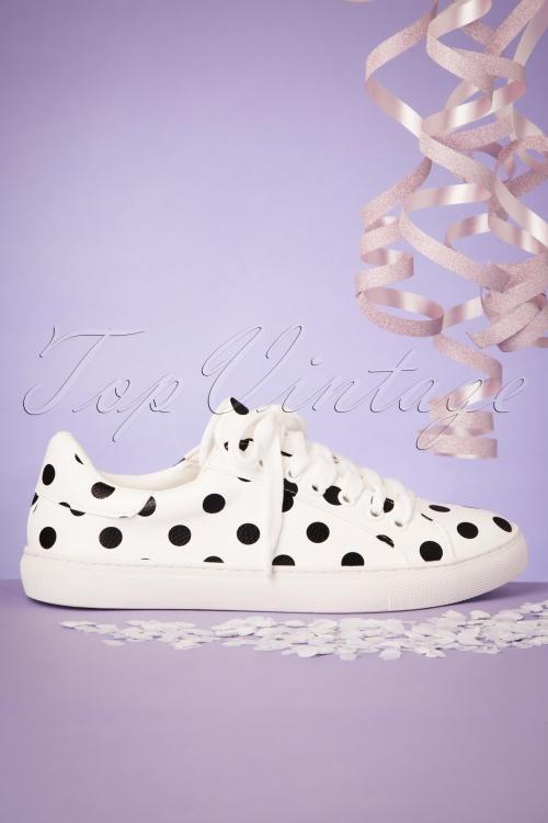 Compania Fantastica 28086Sneaker Dots black white 20190430 001W