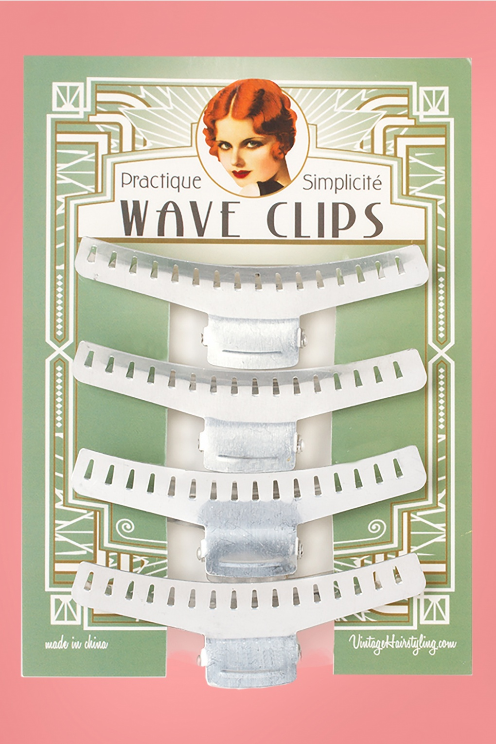 1920s Makeup Starts the Cosmetics Industry- History Vintage Hairstyling Practique Wave Clips �5.10 AT vintagedancer.com