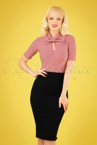 50s Bella Midi Skirt in Black