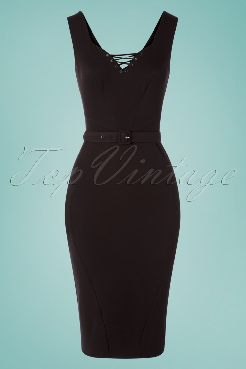 Miss Candyfloss 28667 Pencildress Black corseted 20190502 0005W