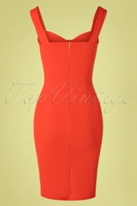 Vintage Chic 30511 Pencildress Orange Fietsa 20190502 0004W
