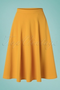 50s Djinda Swing Skirt in Mango Mojito Yellow