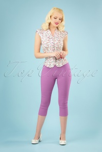 50s Tina Capri Pants in Lavender