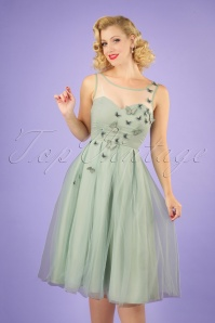 Collectif Clothing 27471 Tiana Butterfly Occasion Swing Dress 20180816 040M w