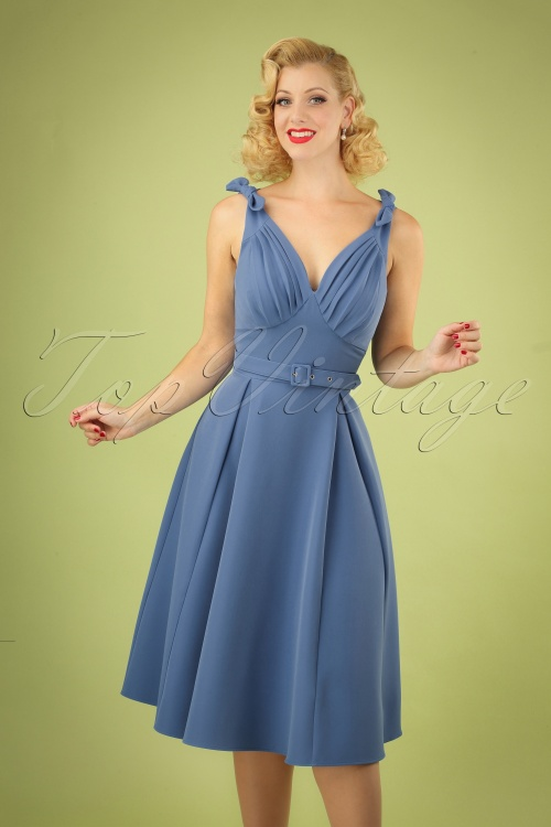MissCandyfloss 28662 Swing Blue Sleeveless 03042019 040M W
