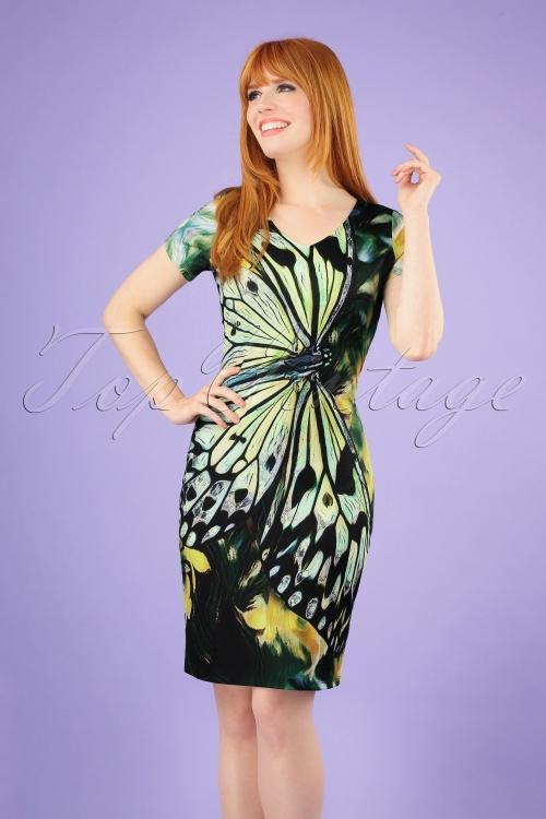 Smashed Lemon 27740 Green Butterfly Dress 20190208 040M w