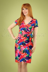 60s Fenna Fruits Pencil Dress in Multi