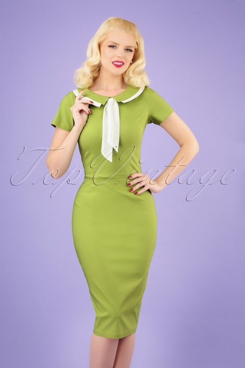 Tatyana 29513 Catherine Green Pencil Dress 20190401 040M w