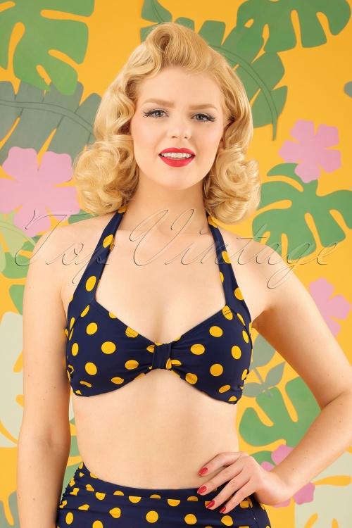 Esther Williams Navy Yellow Bikini 24146 20180308 01W