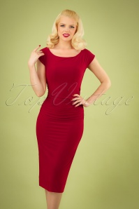 Vintage Chic 30037 Pencildress Red Samt 20190415 040MW