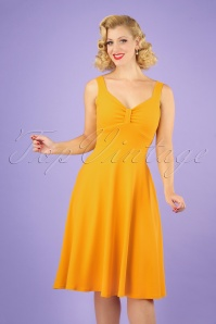 50s Nadia Swing Dress in Honey Yellow