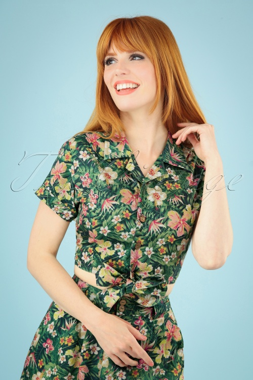 Queen Kerosin 27514 Blouse Tropical 20190411 040MW