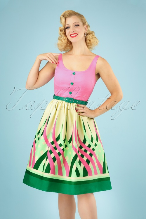 Vixen 28307 60s Sabrina Watermelon Dress 20190320 040M w