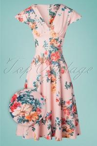 Vintage Chic 28767 Pink Floral Dress 20190312 005Zoom