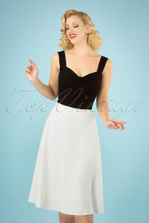 Vintage Chic 29666 Scuba Crepe Black White 03042019 040MW
