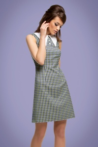 Marmalade-Shop by Magdalena Sokolowska 60s Mod Tulip A-Line Dress in Navy