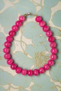 Splendette 30351 Carved Candy Pink Fakelite Necklace 20190506 1W