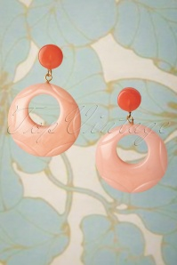 TopVintage Exclusive ~ 50s Drop Earrings in Pale Peach