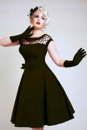 50s Alika Circle Dress in Black