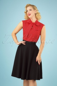 Vintage Chic for TopVintage 50s Sheila Swing Skirt in Black