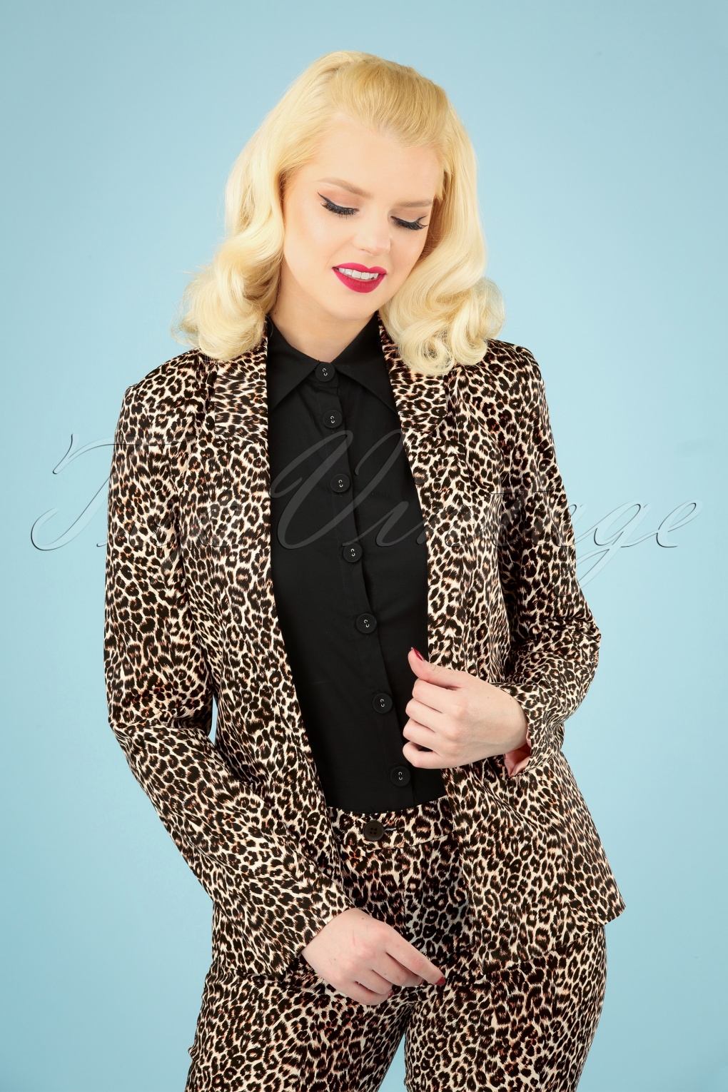 1960s Coats and Jackets 60s Nelly Blazer in Leopard �78.81 AT vintagedancer.com