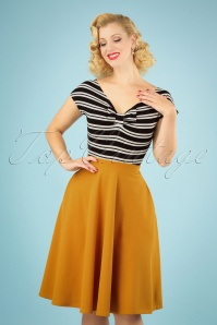 50s Sheila Swing Skirt in Mustard