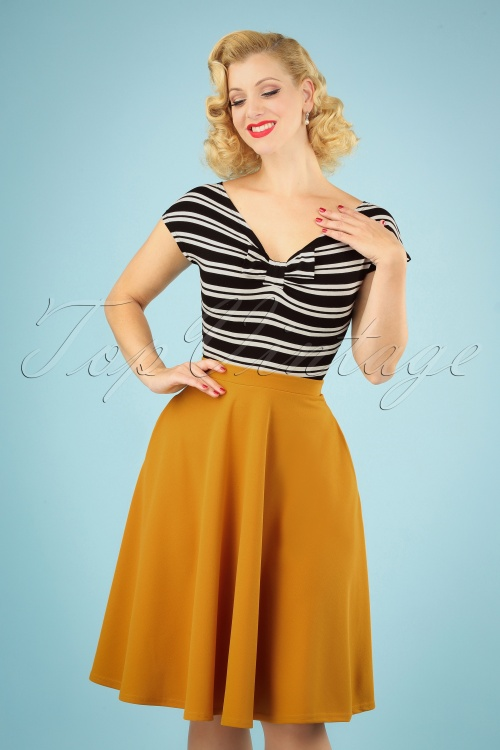 Vintage Chic Yellow Skirt 122 80 23704 20180928 040MW
