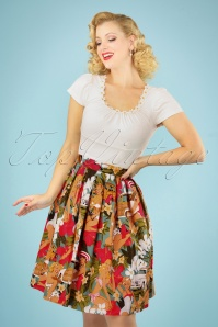 50s Arlena Tropical Swing Skirt in Multi