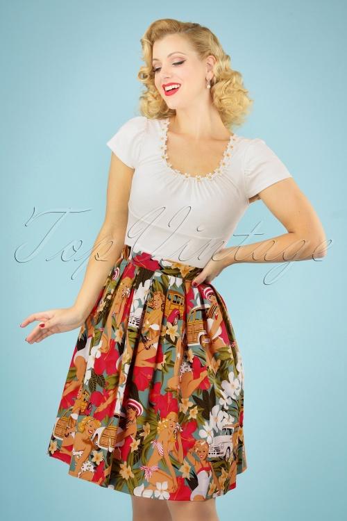 Belsira 30310 Wide Vintage Hawaii Skirt 20190404 040MW