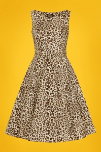 50s Zabrina Swing Dress in Leopard
