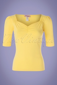 50s Mira Top in Yellow