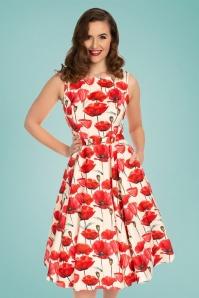6252f658571990 Hearts Roses 30860 Cream Red Poppy Dress 20190507 020L ...