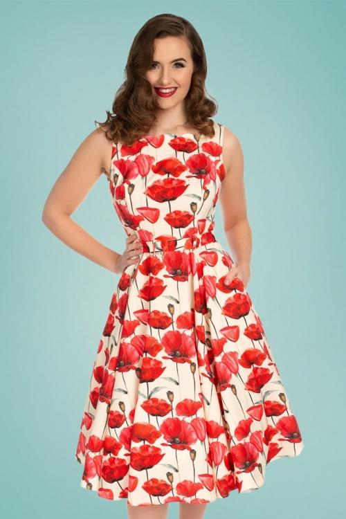 Hearts Roses 30860 Cream Red Poppy Dress 20190507 020L