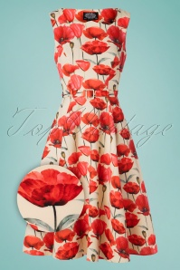Hearts and Roses 30860 Cream Red Poppy Dress 20190509 001Z