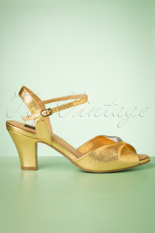 topvintage boutique 28408 Sandal Metallic Gold Silver 20190508 005 W
