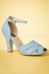 topvintage boutique 28412 peeptoe pumps Sky Blue 20190508 006 W