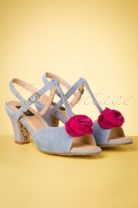 50s Ava Bloom Baby Bloom Sandals in Sky Blue