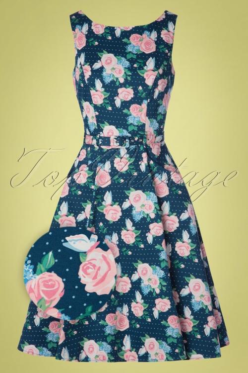 626b664ace7d Collectif 28612 Swingdress Floral Roses Hepburn 130519 0009Zoom