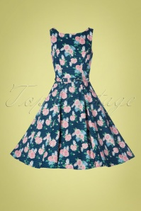 Collectif 28612 Swingdress Floral Roses Hepburn 130519 0003W