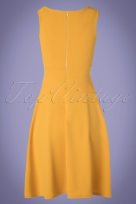 4b7723fdea80d8 ... Vintage Chic 30524 Swingdress Yellow Solero 130519 0007W