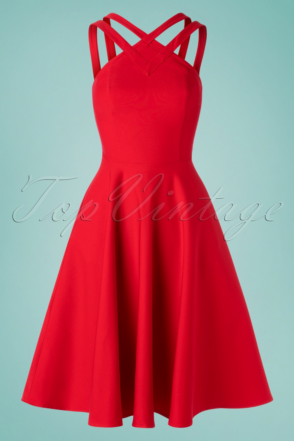 500 Vintage Style Dresses for Sale | Vintage Inspired Dresses 50s Pretty Woman Swing Dress in Red £105.24 AT vintagedancer.com