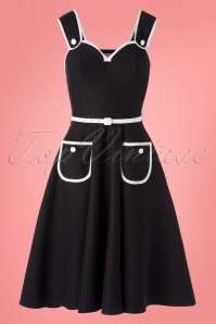 Rebel Love Clothing 50s Cheesecake Swing Dress in Black and White