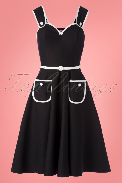 Rebel Love 29566 Swingdress Black White Cheescake 05232019 0005W